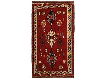 Tapis Fait Main Kilim Fars 303x164 Coureur Gris Foncé/Marron (Laine, Perse/Iran)
