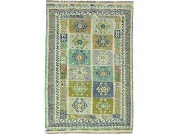 Tapis Kilim Afghan Heritage 244x168 Moderne/Design Gris Foncé/Beige (Tissé à la main, Laine, Afghanistan)