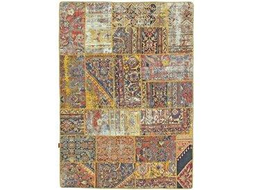 Tapis Patchwork 208x146 Gris/Marron (Laine, Perse/Iran, Noué à la main)