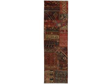 Tapis Patchwork Malayer 254x69 Moderne/Design Coureur Marron (Noué à la main, Laine, Perse/Iran)
