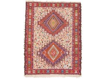 Tapis Kilim Soumak Shahsavan 144x109 Rouge/Rose (Laine/Soie, Perse/Iran, Noué à la main)