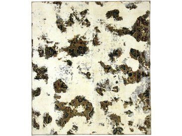 Tapis Vintage Royal 308x271 Gris Foncé/Marron Foncé (Laine, Perse/Iran, Noué à la main)