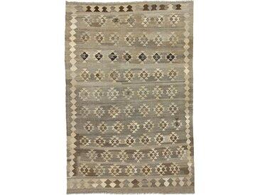 Tapis Tissé à la Main Kilim Afghan Heritage 304x201 Gris/Beige (Laine, Afghanistan)