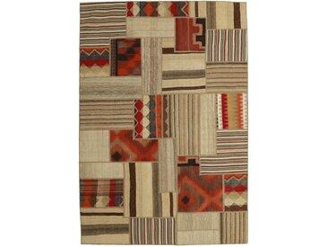 Tapis Persan Kilim Patchwork 234x159 Kilim Patchwork Beige/Marron Foncé (Noué à la main, Perse/Iran, Laine)