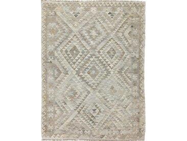 Tapis Authentique Kilim Afghan Heritage 228x173 Gris/Beige (Laine, Afghanistan, Tissé à la main)