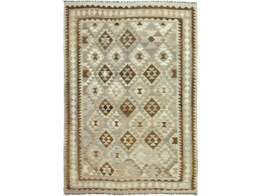Tapis D'orient Kilim Afghan Heritage 291x203 Gris/Marron (Afghanistan, Laine, Tissé à la main)