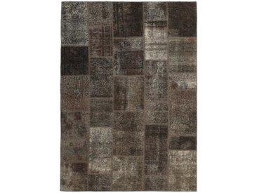Tapis Patchwork 245x169 Moderne/Design Gris Foncé/Marron Foncé (Noué à la main, Laine, Perse/Iran)