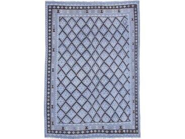 Tapis D'orient Kilim Afghan Heritage Limited 276x197 Gris Foncé/Bleu (Tissé à la main, Afghanistan, Laine)