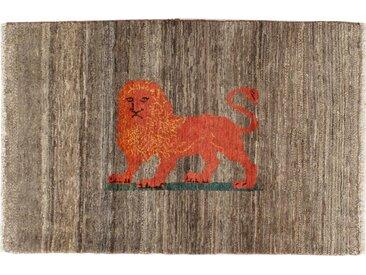 Tapis Persan Gabbeh Loribaft 149x98 Moderne/Design Marron Foncé/Orange (Noué à la main, Laine, Perse/Iran)
