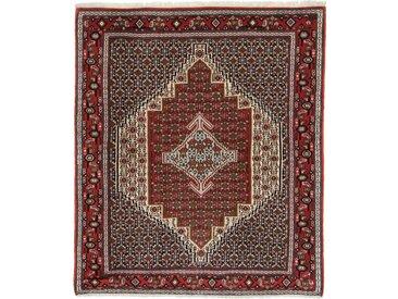 Tapis Fait Main Patchwork 162x119 Beige/Marron Foncé (Laine, Perse/Iran)