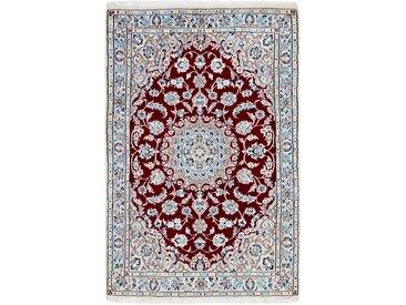 Tapis D'orient Naïn 9La 145x94 Gris/Rouille (Perse/Iran, Laine/Soie, Noué à la main)