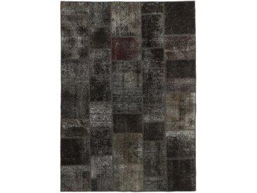 Tapis Patchwork 243x169 Moderne/Design Gris Foncé/Marron Foncé (Noué à la main, Laine, Perse/Iran)