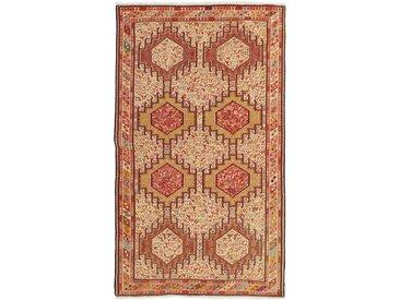 Tapis Kilim Soumak Shahsavan 207x117 Beige/Orange (Laine, Perse/Iran, Noué à la main)