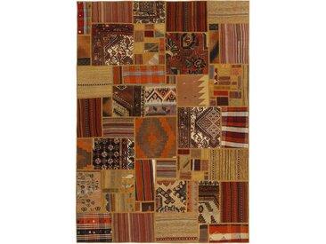 Tapis Persan Kilim Patchwork 231x161 Kilim Patchwork Marron (Noué à la main, Perse/Iran, Laine)