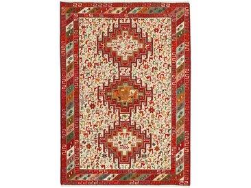 Tapis D'orient Kilim Soumak Shahsavan 145x104 Beige/Marron (Laine, Perse/Iran, Noué à la main)