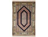 Tapis D'orient Ghom Soie 167x112 Gris Foncé/Beige (Soie, Perse/Iran, Noué à la main)