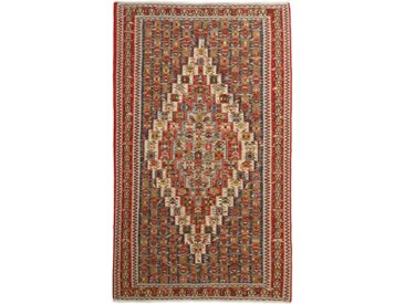 Tapis Kilim Senneh 244x148 Beige/Rouille (Laine, Perse/Iran, Noué à la main)
