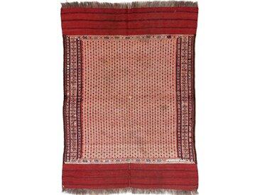 Tapis Kilim Fars Ancien 124x91 Rouge/Rouille (Laine, Perse/Iran, Noué à la main)
