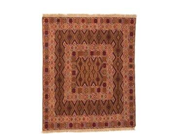Tapis D'orient Kilim Nimbaft 168x138 Marron/Orange (Laine, Afghanistan, Noué à la main)