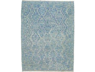 Tapis Kilim Afghan Heritage 239x182 Moderne/Design Gris/Bleu (Tissé à la main, Laine, Afghanistan)