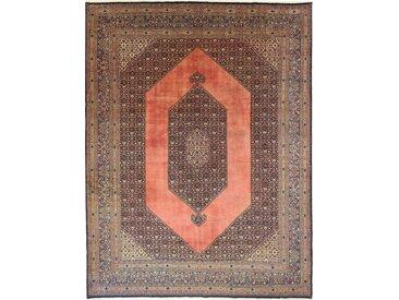Tapis D'orient Vintage 401x302 Beige/Marron Foncé (Perse/Iran, Laine, Noué à la main)
