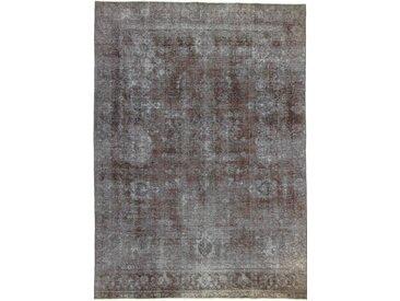 Tapis Vintage Royal 379x272 Gris Foncé/Marron Foncé (Laine, Perse/Iran, Noué à la main)