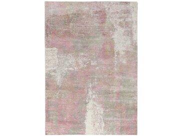 Tapis Authentique Design Loom Impression 232x161 Gris/Rose (Laine, Inde, Travaux d'aiguille)