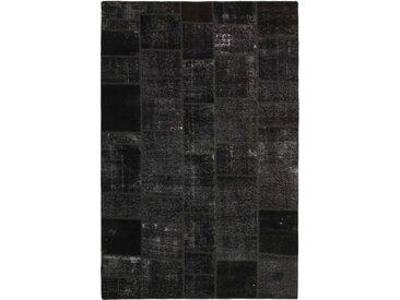 Tapis Patchwork 301x199 Moderne/Design Gris Foncé (Noué à la main, Laine, Perse/Iran)
