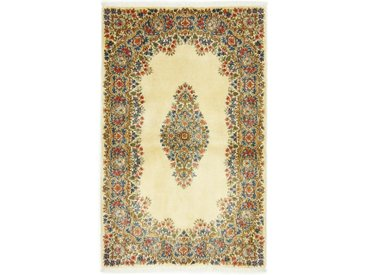 Tapis Fait Main Kerman 151x93 Beige/Marron (Laine, Perse/Iran)