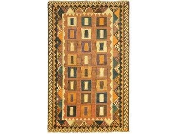 Tapis Kilim Fars Old Style 249x155 Gris Foncé/Orange (Laine, Perse/Iran, Noué à la main)