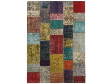 Tapis Patchwork 236x170 Beige/Rouille (Laine, Perse/Iran, Noué à la main)