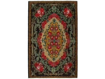 Tapis Authentique Kilim Rosen 338x216 Gris Foncé/Rouille (Laine, Moldavie, Noué à la main)