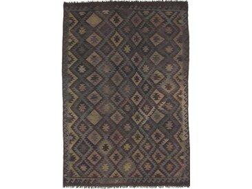 Tapis D'orient Kilim Afghan Heritage 300x203 Gris Foncé/Marron Foncé (Afghanistan, Laine, Tissé à la main)