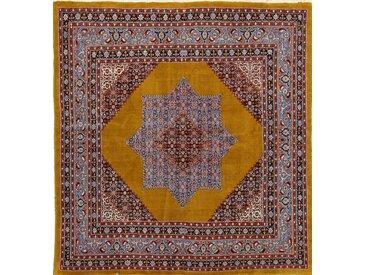 Tapis Persan Moud 220x208 Moud Marron/Rouille (Noué à la main, Perse/Iran, Laine)