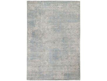 Tapis Authentique Design Loom Impression 301x203 Gris/Beige (Laine, Inde, Noué à la main)