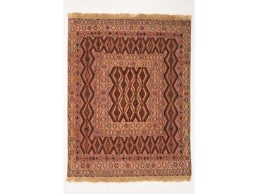 Tapis Kilim Nimbaft 175x134 Marron/Rouille (Laine, Afghanistan, Noué à la main)