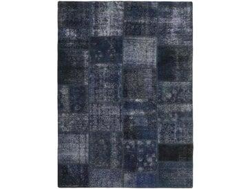 Tapis Patchwork 232x168 Gris Foncé/Bleu Foncé (Laine, Perse/Iran, Noué à la main)