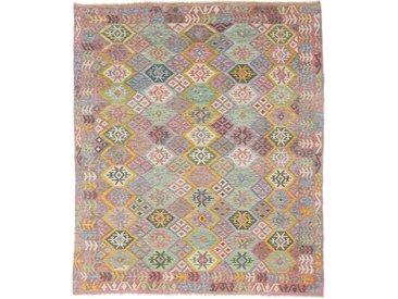 Tapis D'orient Kilim Afghan Heritage 290x249 Beige/Marron Foncé (Afghanistan, Laine, Tissé à la main)