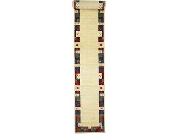 Tapis Persan Gabbeh Loribaft 567x89 Moderne/Design Gris Foncé/Beige (Noué à la main, Laine, Perse/Iran)