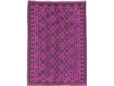 Tapis D'orient Kilim Afghan Heritage Limited 280x202 Gris Foncé/Violet (Afghanistan, Laine, Tissé à la main)