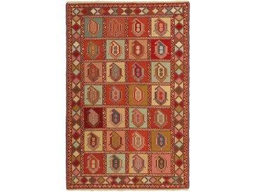 Tapis Kilim Soumak Shahsavan 196x131 Marron/Orange (Laine, Perse/Iran, Noué à la main)