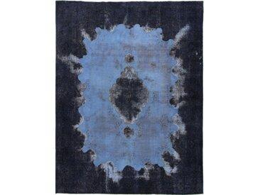 Tapis D'orient Vintage 381x292 Gris Foncé/Bleu Foncé (Laine, Perse/Iran, Noué à la main)