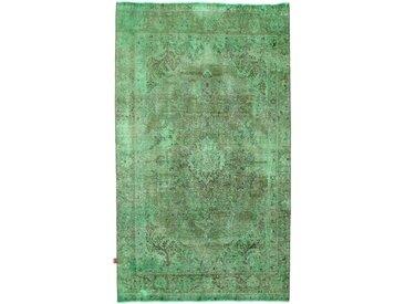 Tapis Vintage 286x168 Gris Foncé/Vert Foncé (Laine, Perse/Iran, Noué à la main)