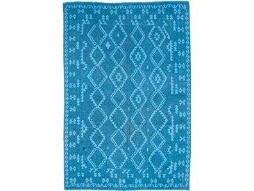 Tapis D'orient Kilim Afghan Heritage Limited 290x202 Bleu/Turquoise (Afghanistan, Laine, Tissé à la main)