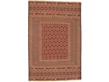Tapis Kilim Nimbaft 184x126 Marron/Rose (Laine, Afghanistan, Noué à la main)