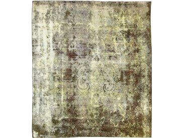 Tapis Vintage Royal 326x284 Gris/Olive Verte (Laine, Perse/Iran, Noué à la main)