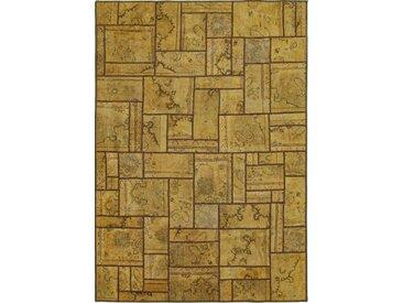 Tapis D'orient Patchwork 241x171 Marron (Perse/Iran, Laine, Noué à la main)