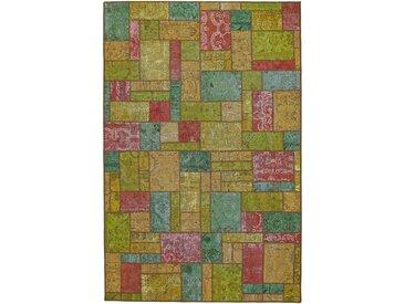 Tapis D'orient Patchwork 303x196 Rouille/Vert Foncé (Perse/Iran, Laine, Noué à la main)