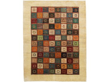 Tapis Persan Gabbeh Loribaft 202x158 Moderne/Design Gris Foncé/Rose (Noué à la main, Laine, Perse/Iran)