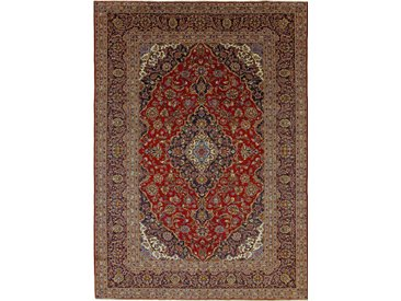 Tapis Persan Kashan 347x247 Kashan Marron Foncé (Noué à la main, Perse/Iran, Laine)